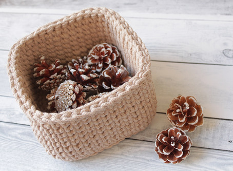 How to Crochet a Square Basket - FREE Video Tutorial