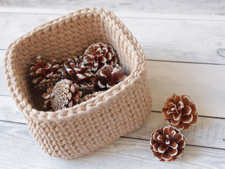 Crochet Square Basket FREE Video Tutorial - Intermediate Level