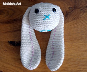 Navit crochet bunny FREE pattern by MalkishuArt 10
