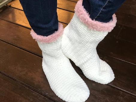 הוראות לסריגת נעלי בית מגפונים - לסורגים מתקדמים
