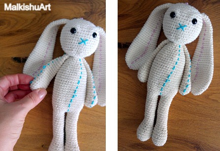 Navit crochet bunny FREE pattern by MalkishuArt 14