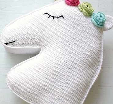 Crochet Unicorn Pillow Pattern - Intermediate Level