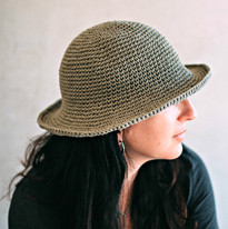 כובע סרוג - כובע נועה CROCHET HAT PATTERN