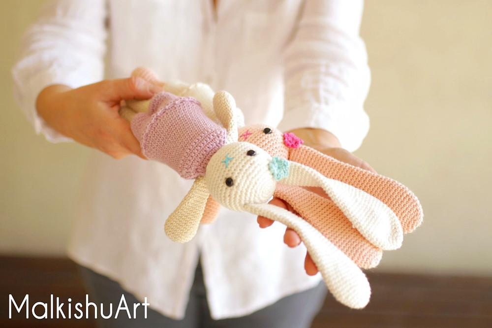 Navit crochet bunny FREE pattern by MalkishuArt 8