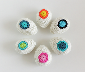 Crochet Decorative Egg Pattern - Intermediate Level