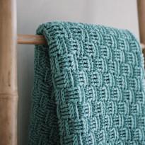 שמיכת Basket Weave Stitch