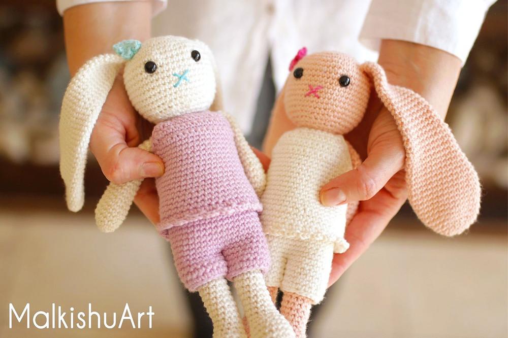Navit crochet bunny FREE pattern by MalkishuArt 3