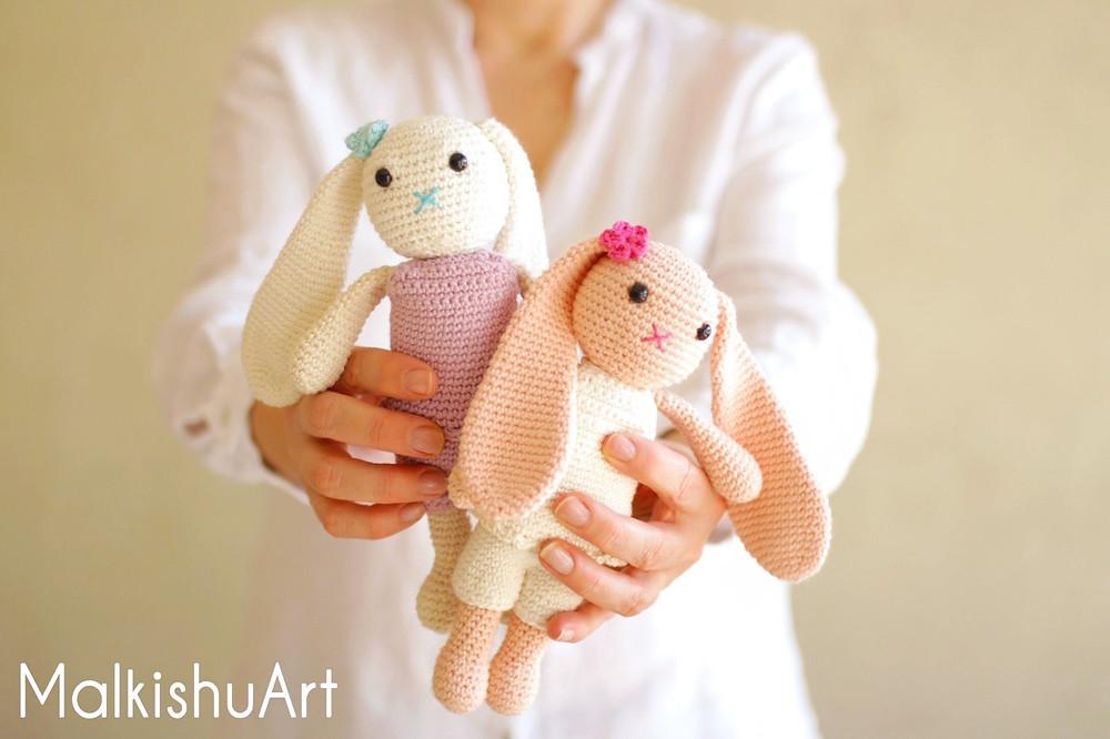 Navit crochet bunny FREE pattern by MalkishuArt 1