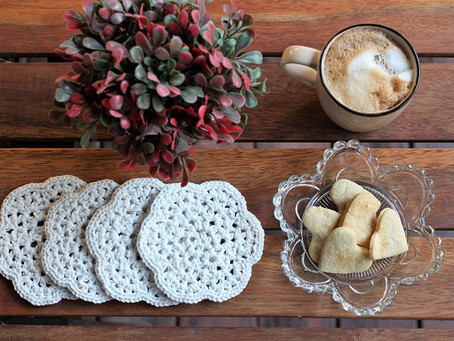 Mashrabiya Crochet Coaster Pattern  - Intermediate Level