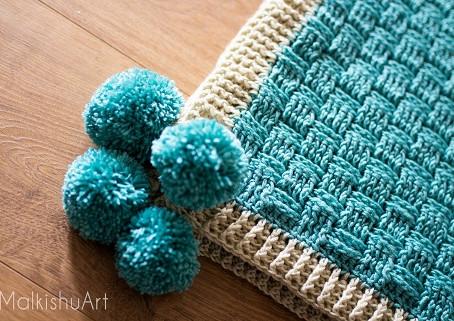 סריגת משטחים  Basket Weave Stitch
