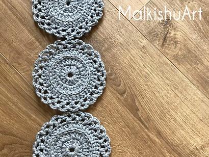 Crochet Fancy Coaster Pattern - Easy Level