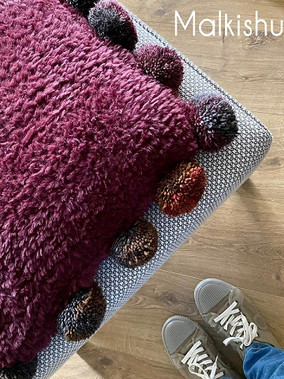 A Quick & Easy Knitted Pillow Pattern כרית מהירה בשתי מסרגות