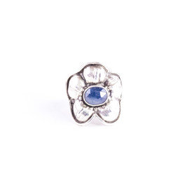 Mary Ann Petaled Flower with Stone Center