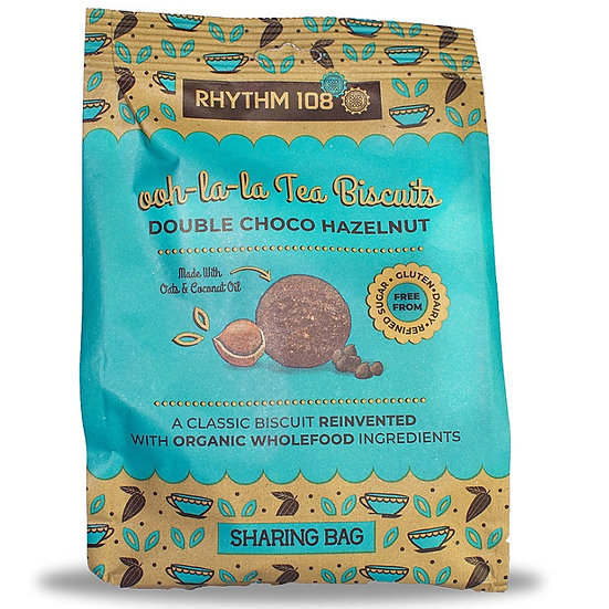 RHYTHM 108 Tea Biscuits DOUBLE CHOCO HAZELNUT 135g