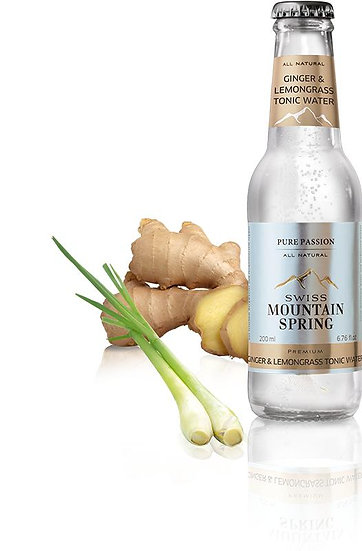 SWISS MOUNTAIN SPRING GINGER & LEMONGRASS TONIC WATER Bottle 200ml