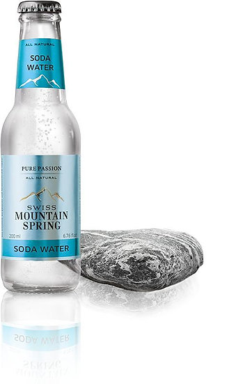 SWISS MOUNTAIN SPRING SODA WATER Bottle 200ml