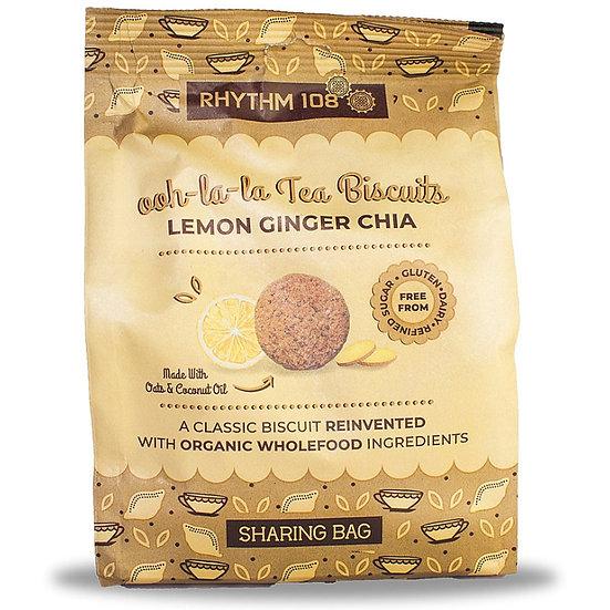 RHYTHM 108 Tea Biscuits LEMON GINGER CHIA 135g