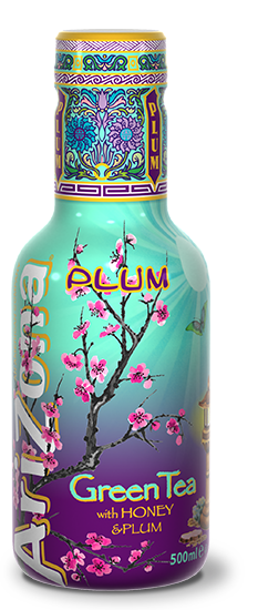 AriZona Green Tea With Honey & Plum Pet 500ml