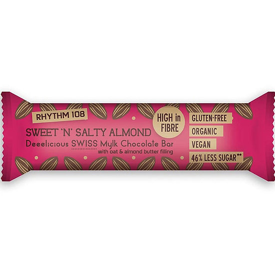 RHYTHM 108 SWEET & SALTY ALMON Chocolate Bar 35g