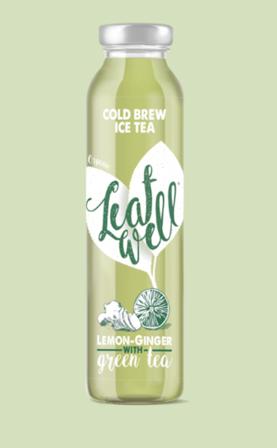 Leafwell ICE TEA LEMON-GINGER Bottle 330ml