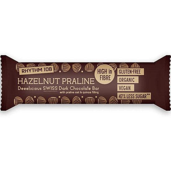 RHYTHM 108 HAZELNUT PRALINE Chocolate Bar 35g