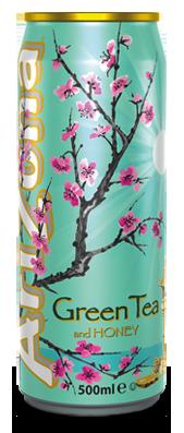 AriZona Green Tea With Honey Can 500ml