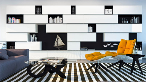 Cabinetry Livingroom 3D Rendering