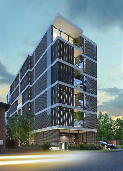 Residential Apartment Development 3D Render