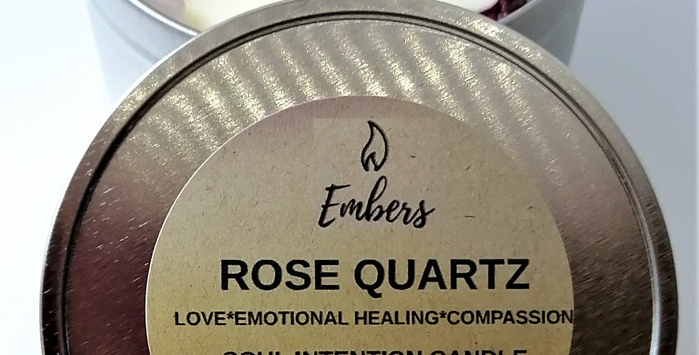 Rose Quartz Soul Intention Candle