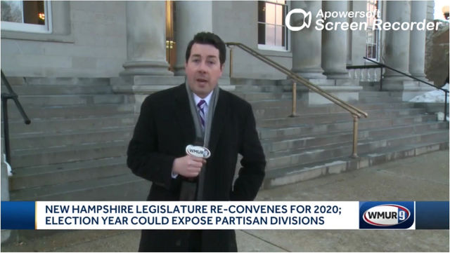 "WMUR News 9 Says Senator Morgan ""straps the partisan divide."""