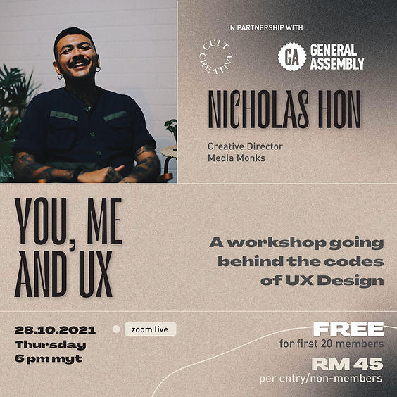 Cult Creative Workshop: You, Me and UX