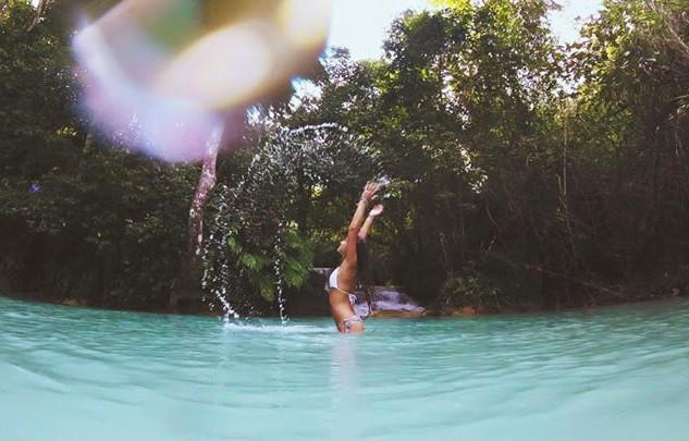 🌴💦🌏 kuang si waterfalls