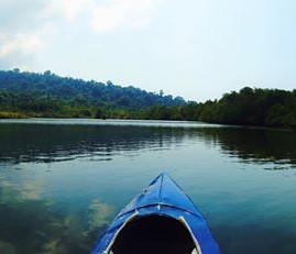 Canoeing around 🐠🌴💦