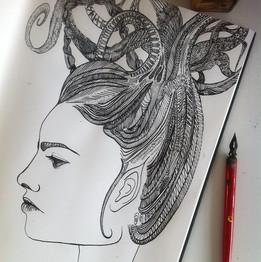 Work in progress 💫 ✒️ #creative #drawin