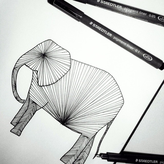 sketching with new pencils 🐘🐘🐘