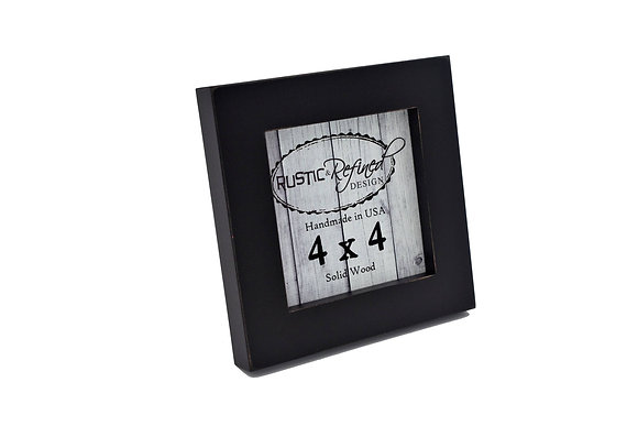 "4x4 1"" Gallery Picture Frame - Black"
