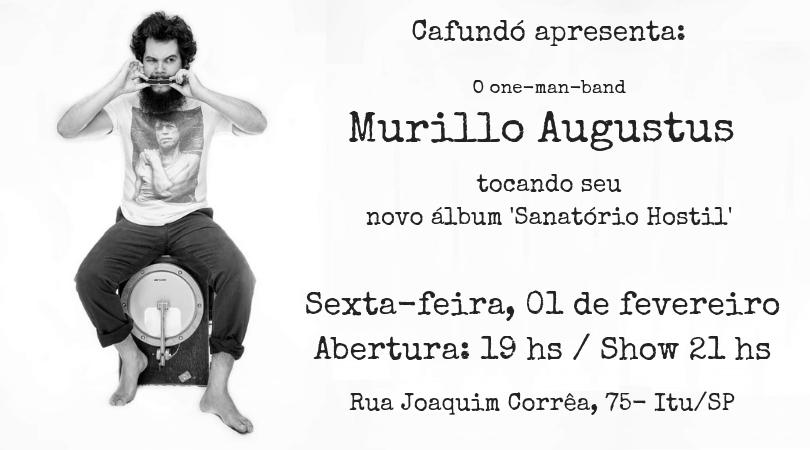 Murillo Augustus lança seu novo álbum no Cafundó