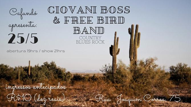 Country Blues Rock neste sábado, 25/05 no Cafundó!
