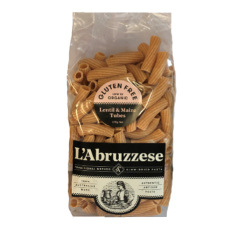 L'Abruzzese Organic Lentil & Maize Tubes (GF) 375gm