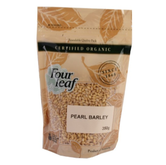Four Leaf Milling Organic Pearl Barley 350gm