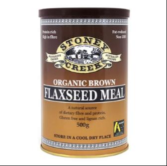 Stoney Creek Organic Brown Flaxseed Meal 500gm
