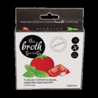 Broth Sisters Tuscan Tomato Basil Sipping Broth 2 Bag
