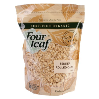 Four Leaf Milling Organic Tender Rolled Oats 800gm