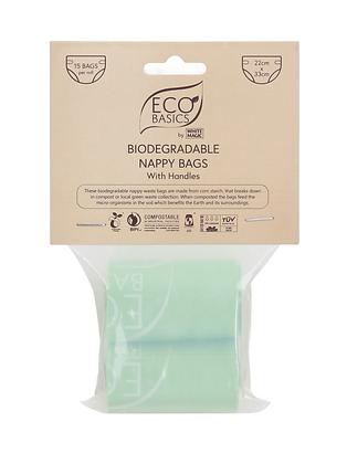 Eco Basics Biodegradalbe Nappy Bags 2 x 15 Bags