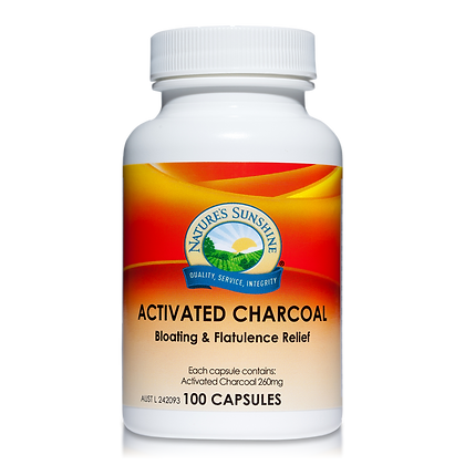 Nature's Sunshine Activated Charcoal 260mg 100 Cap