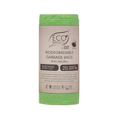 Eco Basics Biodegradalbe Garbage Bag 20lt 15 Bags