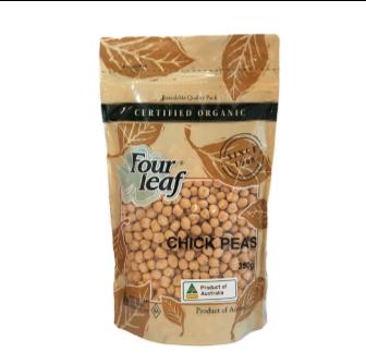 Four Leaf Milling Organic White Chick Peas 350gm