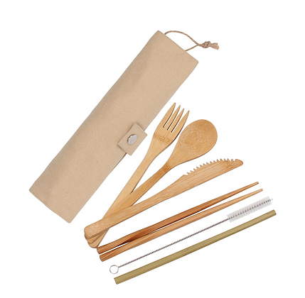 Eco Basics Re-Useable Bamboo Cutlery Set