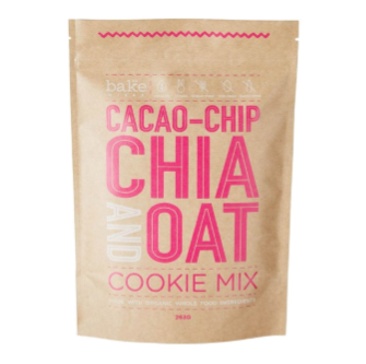 Bake Mixes Cacao-Chip, Chia & Oat Cookie Mix 250gm