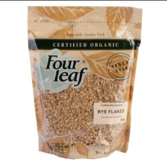 Four Leaf Milling Organic Rye Flakes 800gm